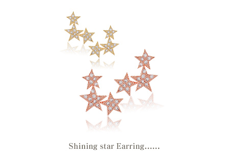 [ 4xtyle ] Shining Star Silver Earring, 3 colors