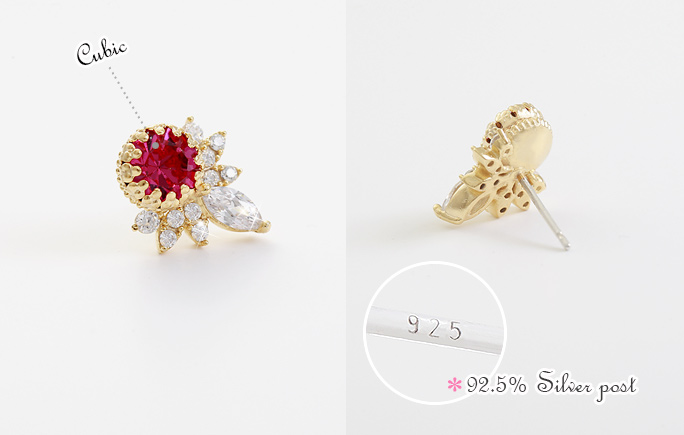 [ 4xtyle ] [银]科罗纳多花耳环