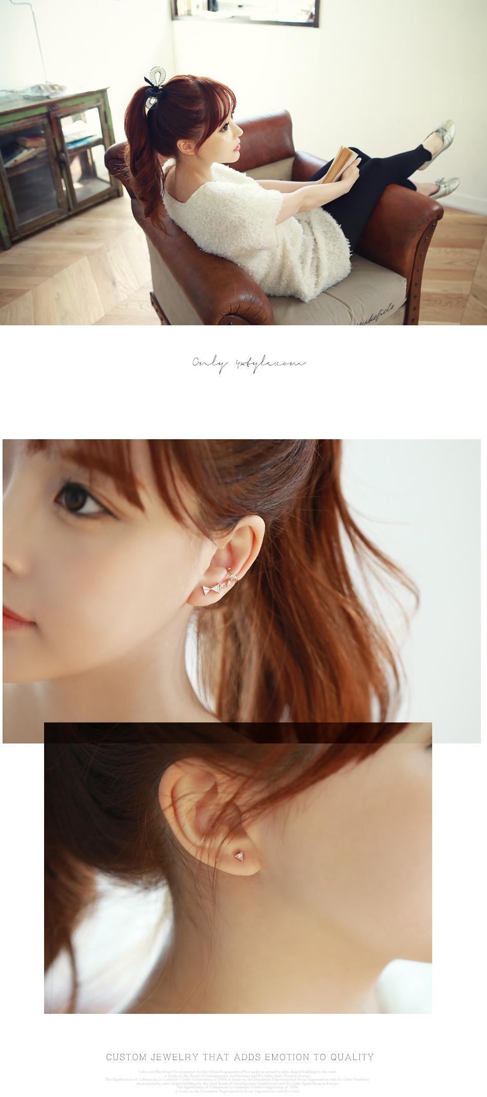 [ 4xtyle ] Honey Ribbon Earring, 3 Colors