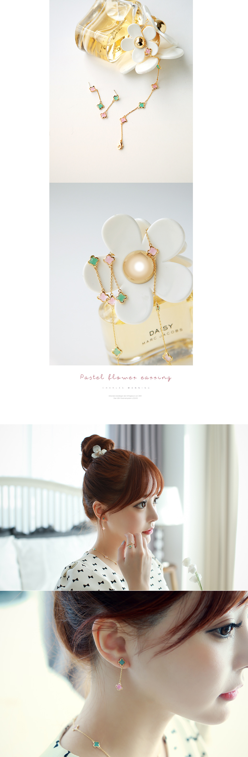 [ 4xtyle ] Pastel Flower Earring, One Color