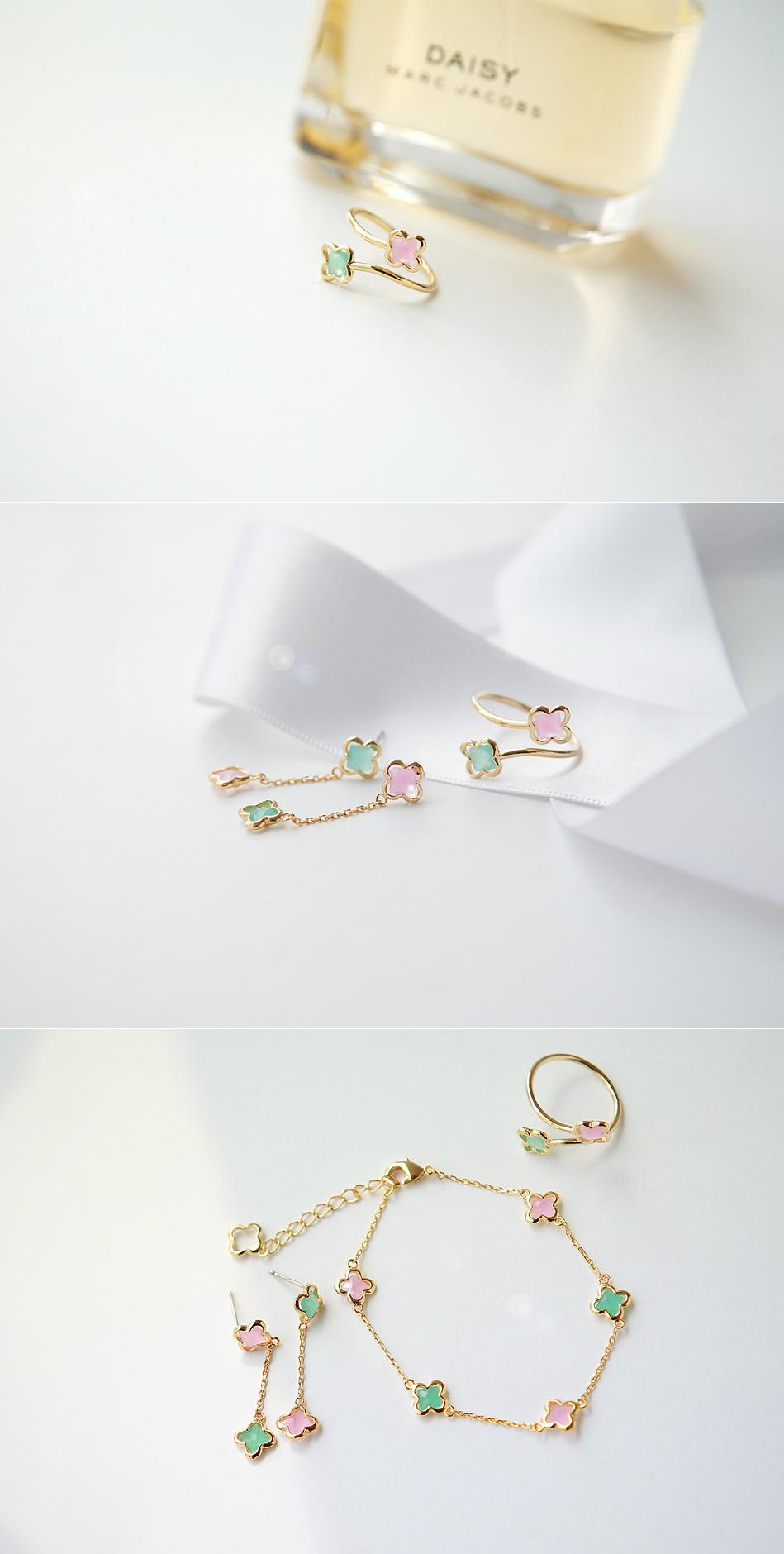 [ 4xtyle ] 柔和的花耳环、一种颜色
