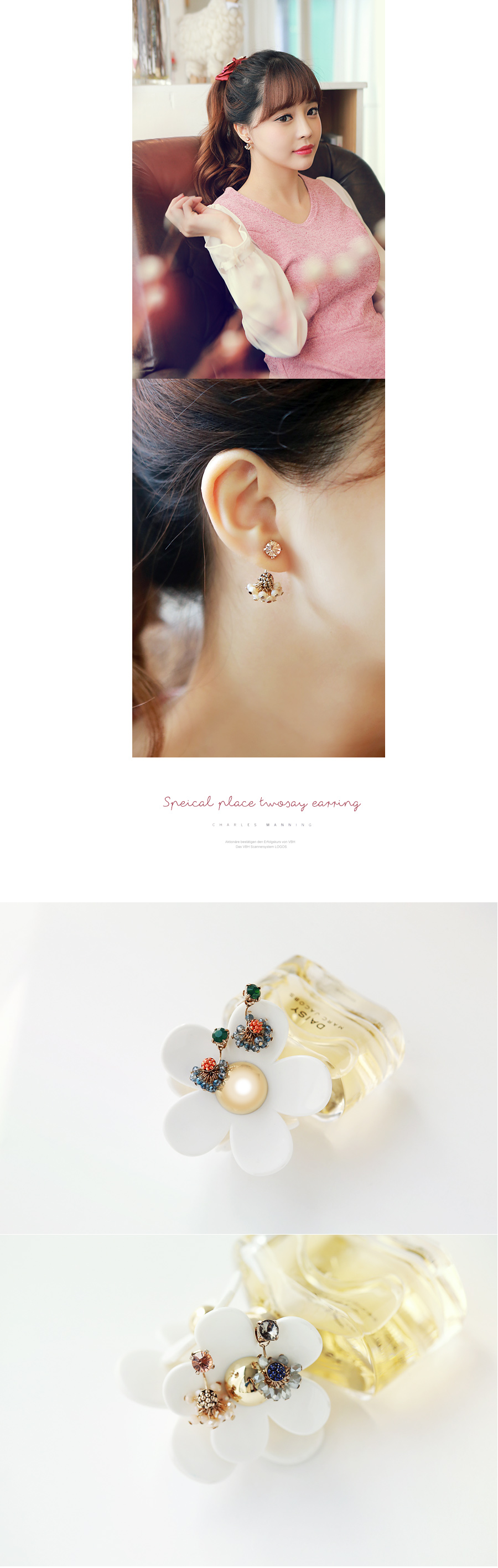 [ 4xtyle ] Special Place Twoway Earring, 4 Colors