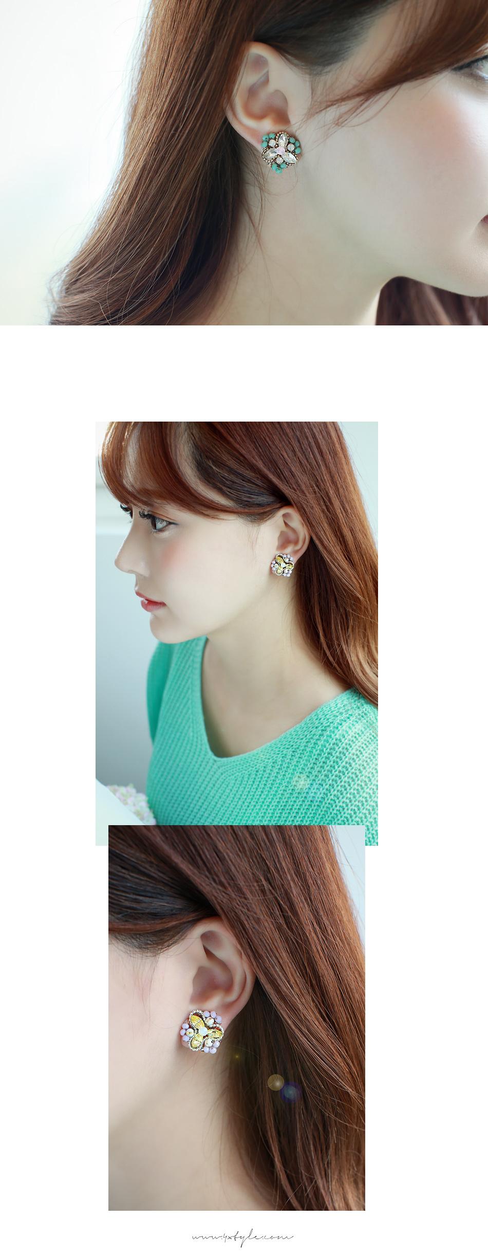 [ 4xtyle ] Florist Earring, 2 Colors