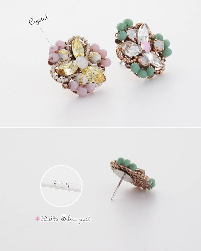 [ 4xtyle ] Florist Earring, 2 Colors