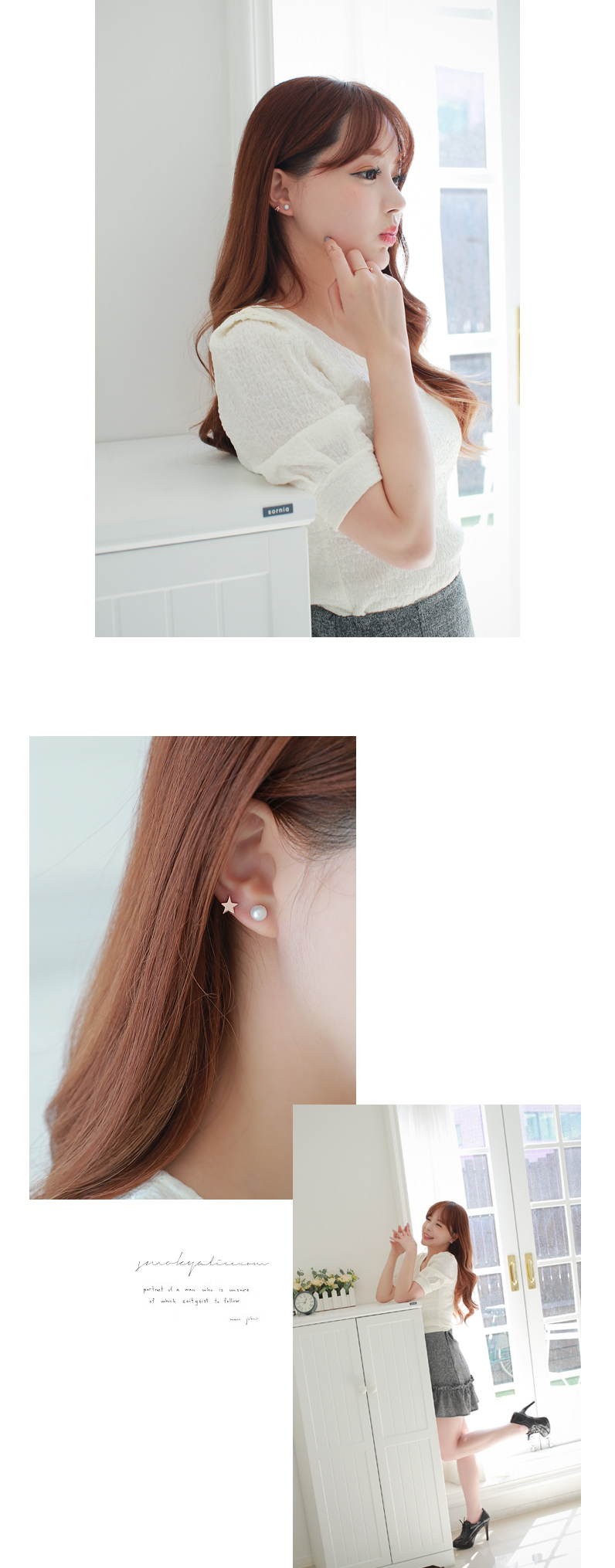 [ 4xtyle ] [剪辑]卡纸星耳环