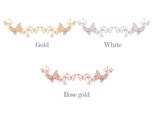 [ 4xtyle ] [SILVER] HONEY GARDEN EARRING (WHITEGOLD)