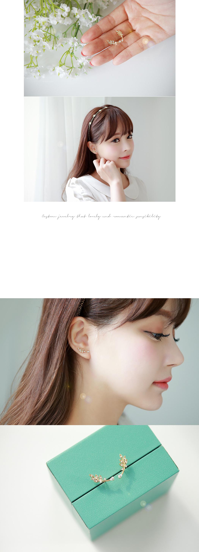 [ 4xtyle ] [银] KUSCO 叶耳环(WHITEGOLD)
