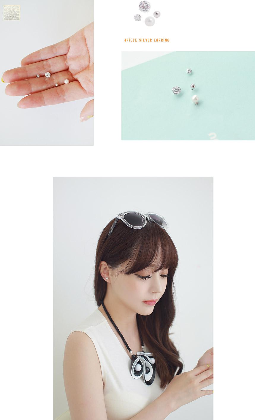 [ 4xtyle ] 4件银耳环的设置