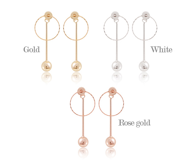 [ 4xtyle ] Bling Long Stick Earring, 3 Colors
