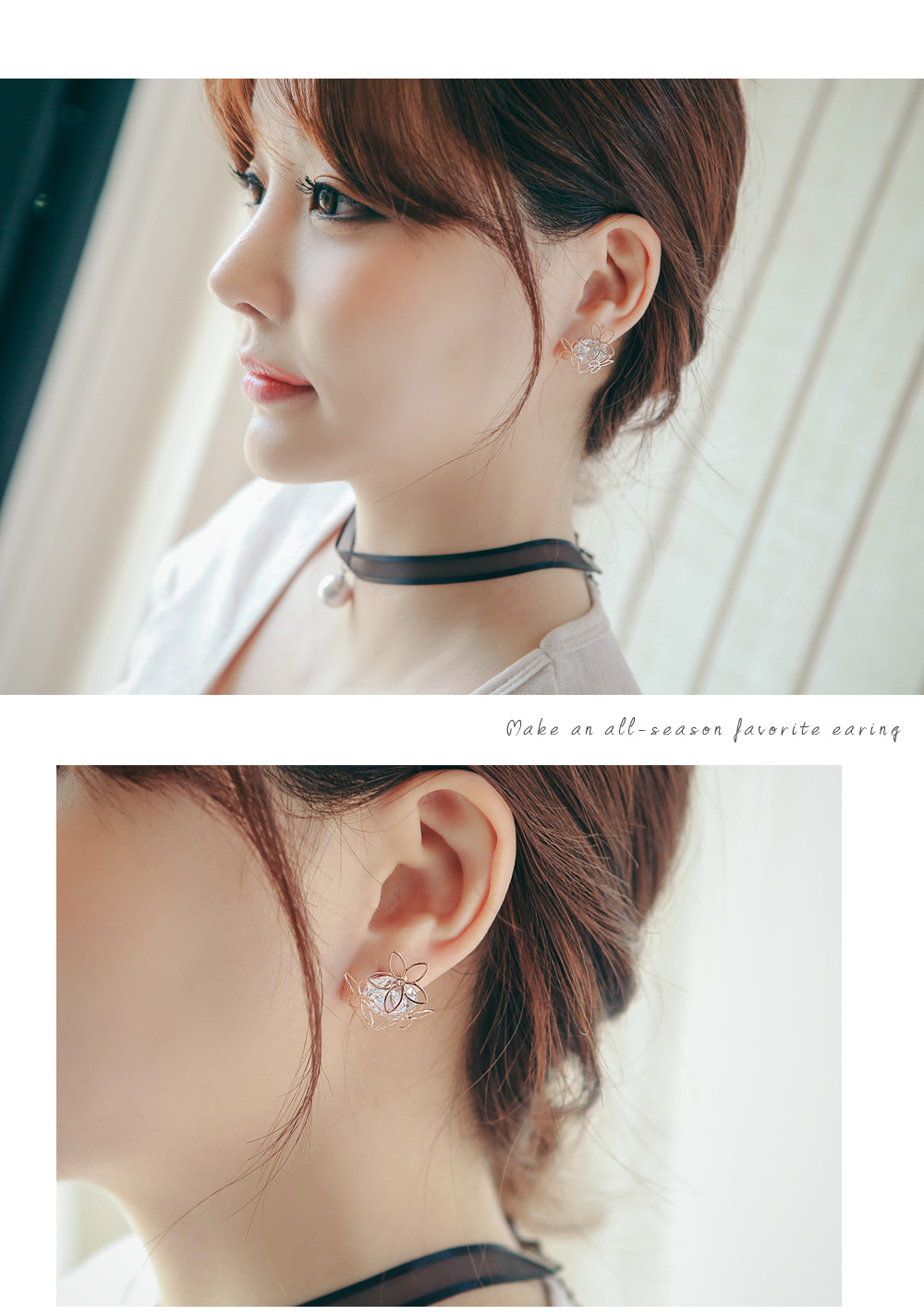 [ 4xtyle ] Three Blossom Earring, 2 Colors
