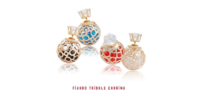 [ 4xtyle ] Figaro Tribale Earring, 4 Colors