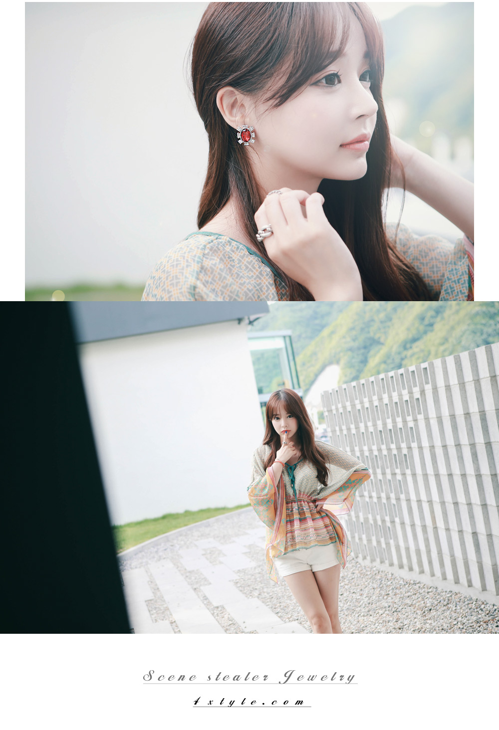 [ 4xtyle ] Sindy Cubic Earring, 3 Colors