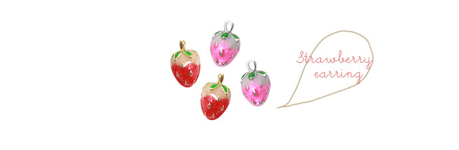 [ 4xtyle ] STRAWBERRY EARRING (LONG)