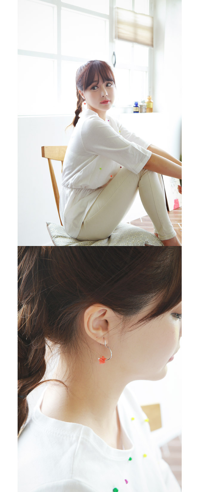 [ 4xtyle ] 投标Fleur耳环、3种颜色