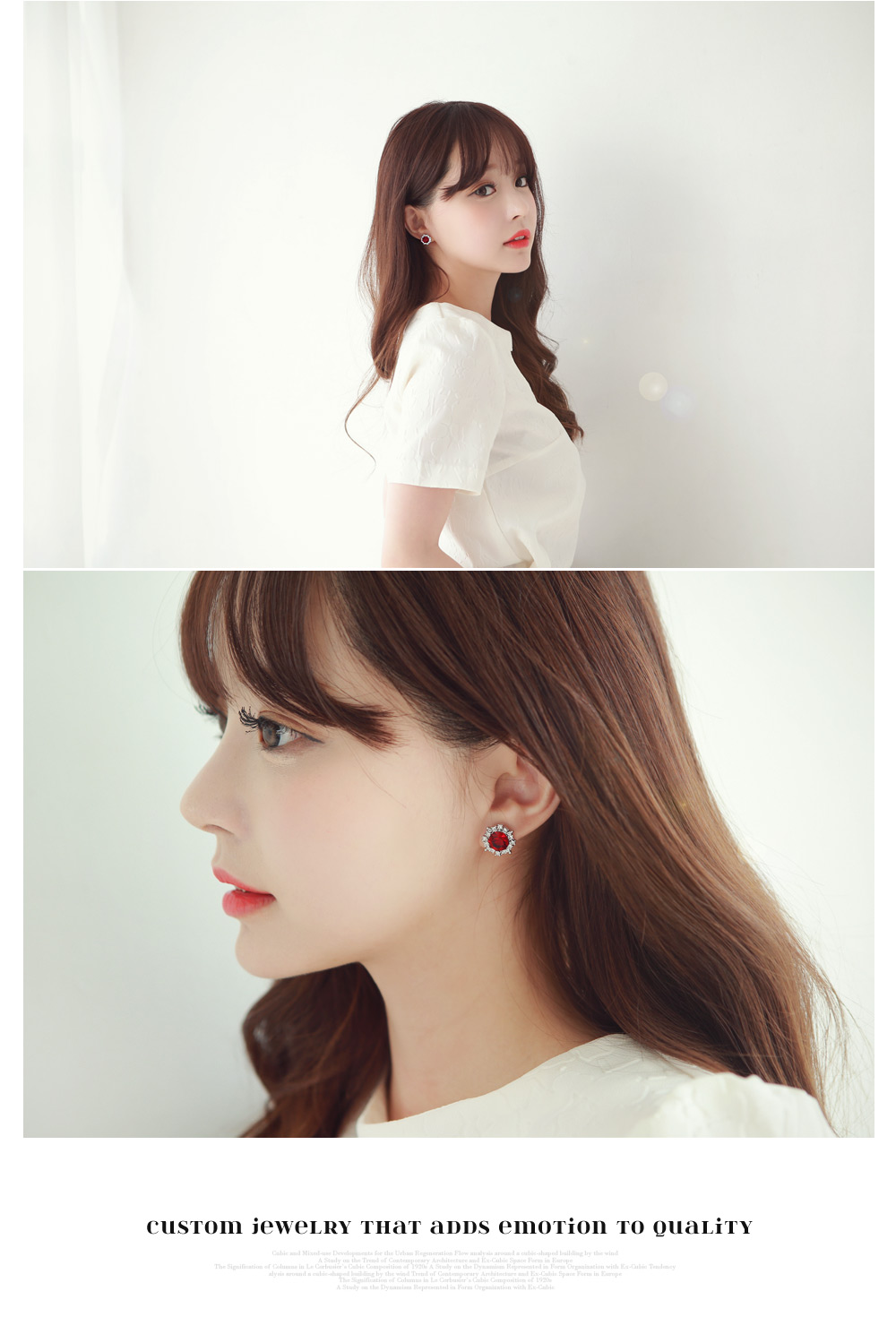 [ 4xtyle ] Cubic Deco Earring, 5 Colors