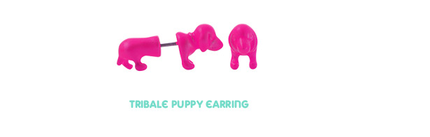 [ 4xtyle ] Tribale Puppy Earring, 5 Colors