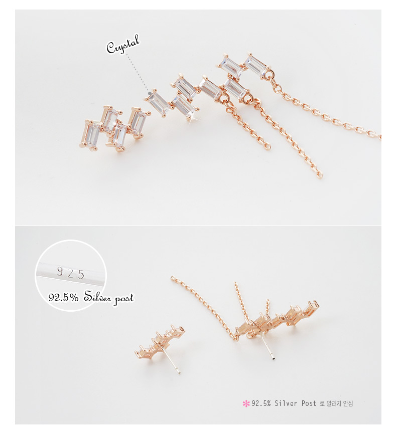 [ 4xtyle ] Byqueen Earring, 3 Colors
