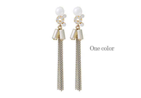 [ 4xtyle ] Mascarpon Tassel Earring, One Color