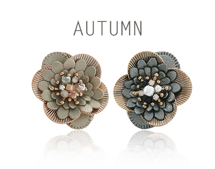 [ 4xtyle ] Autumn Vintage Silver Earring, 2 Colors