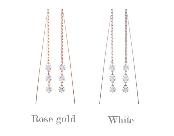 [ 4xtyle ] Davinci Lux Cubic Silver Earring, 2 colors