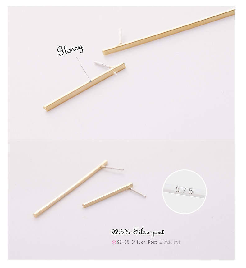 [ 4xtyle ] Long Simple Stick Earring, 3 Colors
