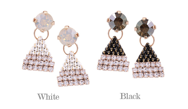 [ 4xtyle ] Pyramid Silver Earring, 2 Colors