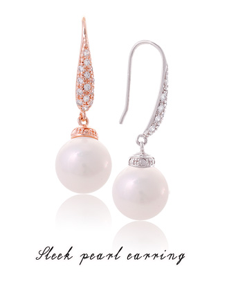 [ 4xtyle ] Sleek Pearl Earring, 2 Colors