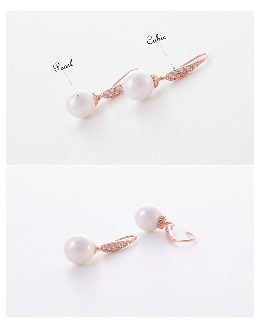 [ 4xtyle ] Sleek Pearl Earring, 2 Colors