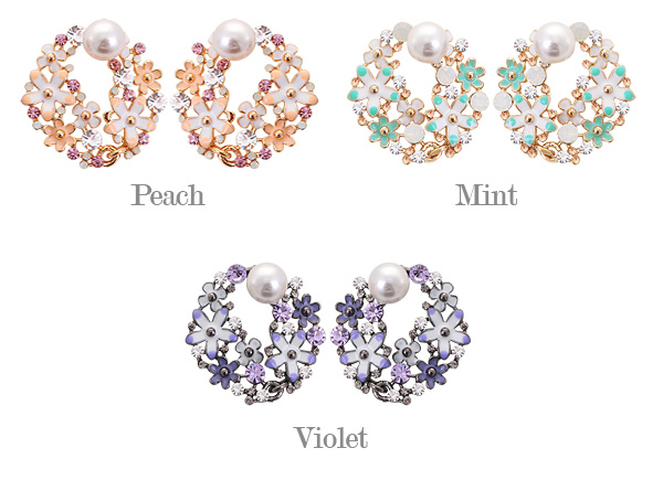 [ 4xtyle ] Babara Flower Earring, 3 Colors