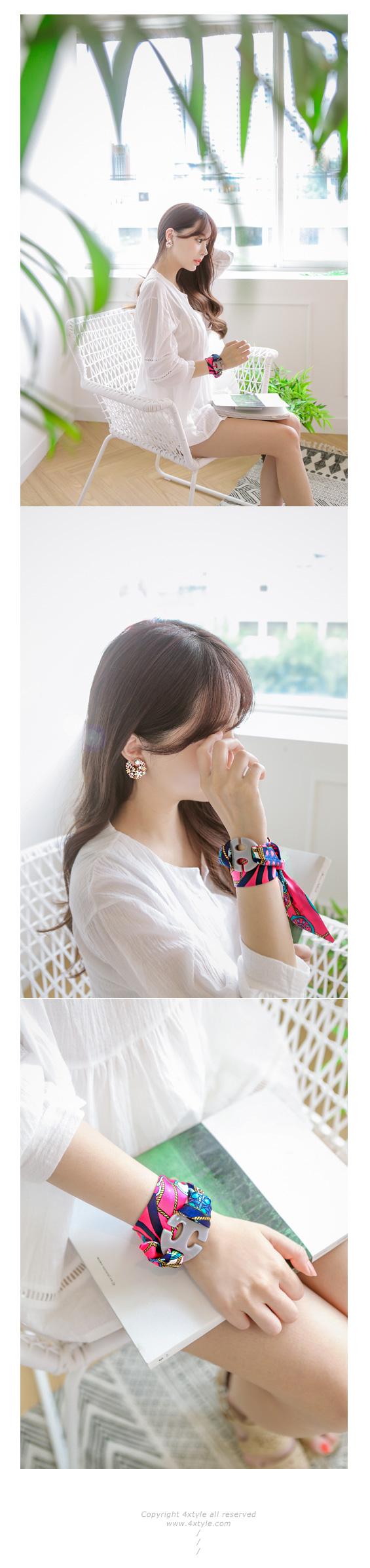 [ 4xtyle ] Babara花耳环、3种颜色