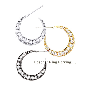 [ 4xtyle ] Heather Ring Earring, 3 Colors