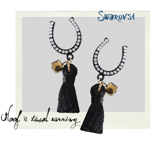 [ 4xtyle ] Horseshoe Tassel Earring, One Color