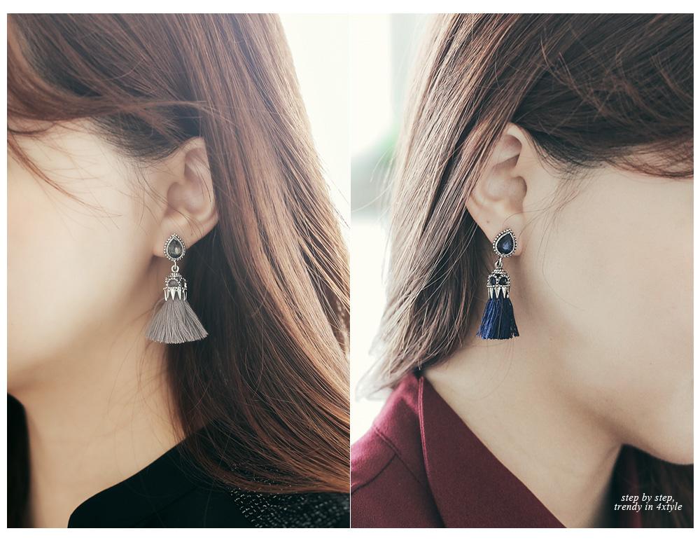 [ 4xtyle ] Praha Tassel耳环、5种颜色