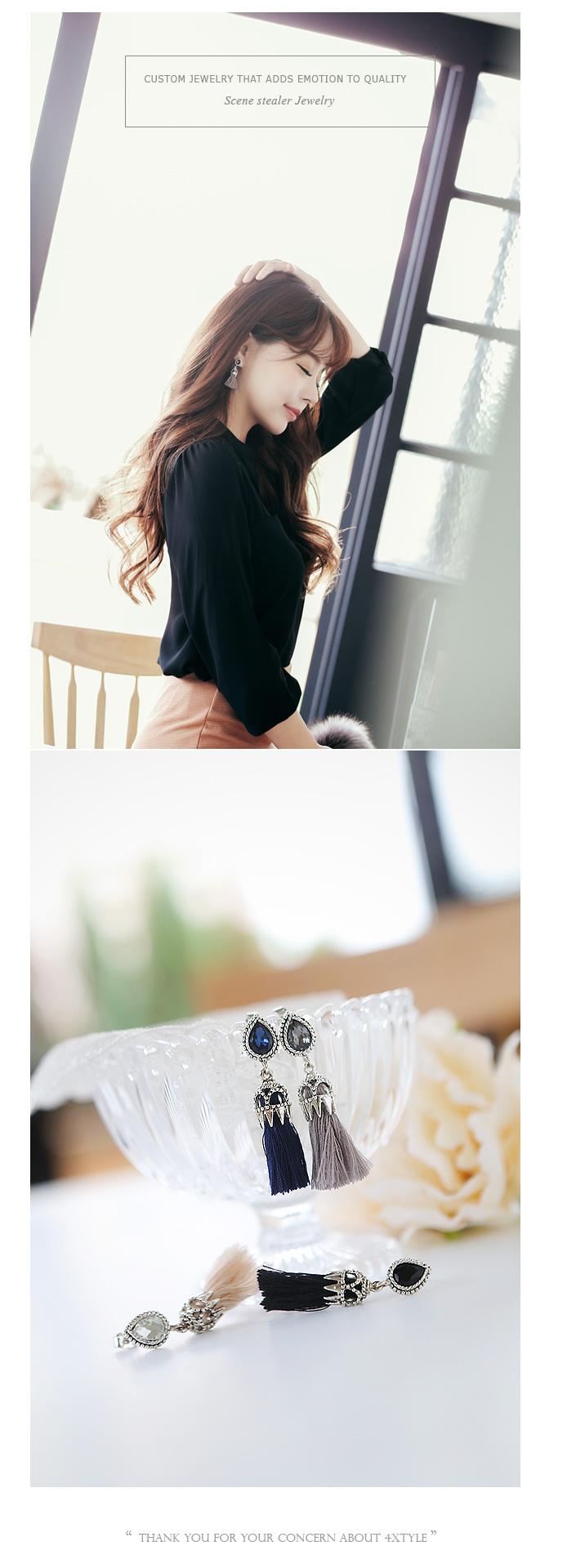[ 4xtyle ] Praha Tassel Earring, 5 Colors
