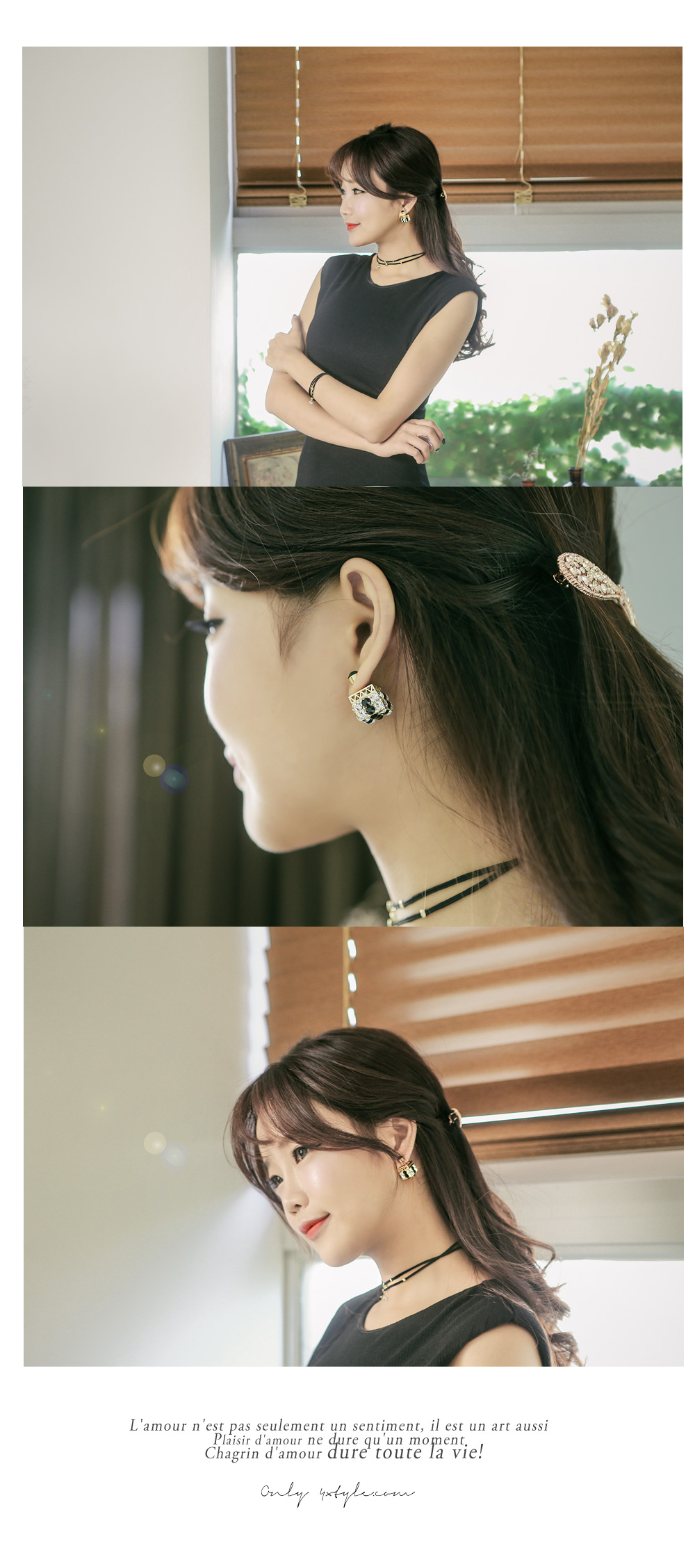 [ 4xtyle ] Square Tribale Earring, 3 Colors