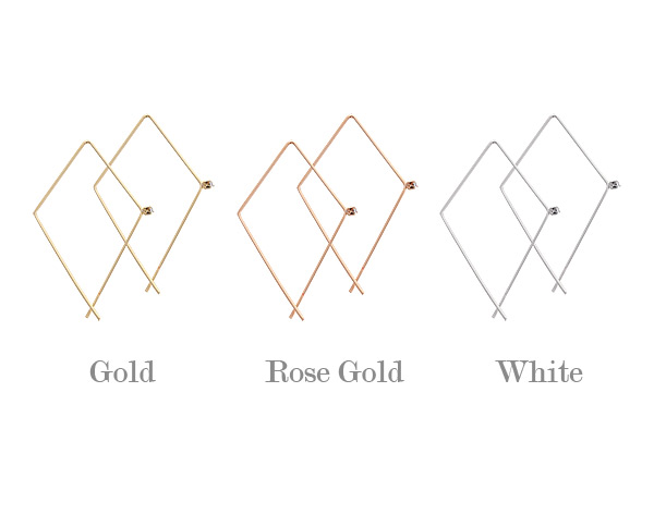 [ 4xtyle ] Triangle Line Earring, 3 Colors