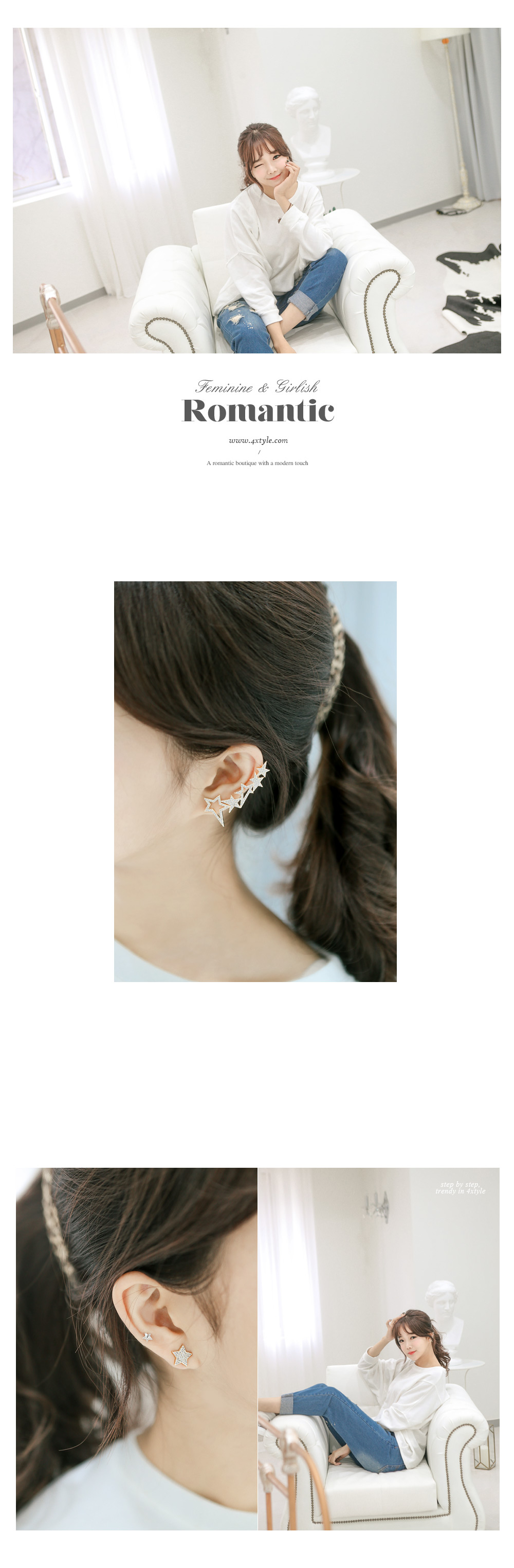 [ 4xtyle ] Etwal Ear Cuff, 2 Colors