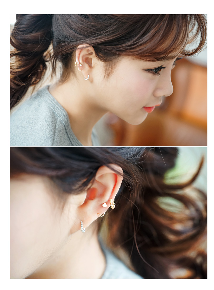 [ 4xtyle ] [SILVER] BUBBLE MINIMALING EARRING (SMALL GOLD)