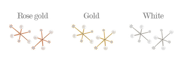 [ 4xtyle ] Bubble Snowflower Earring, 3 Colors