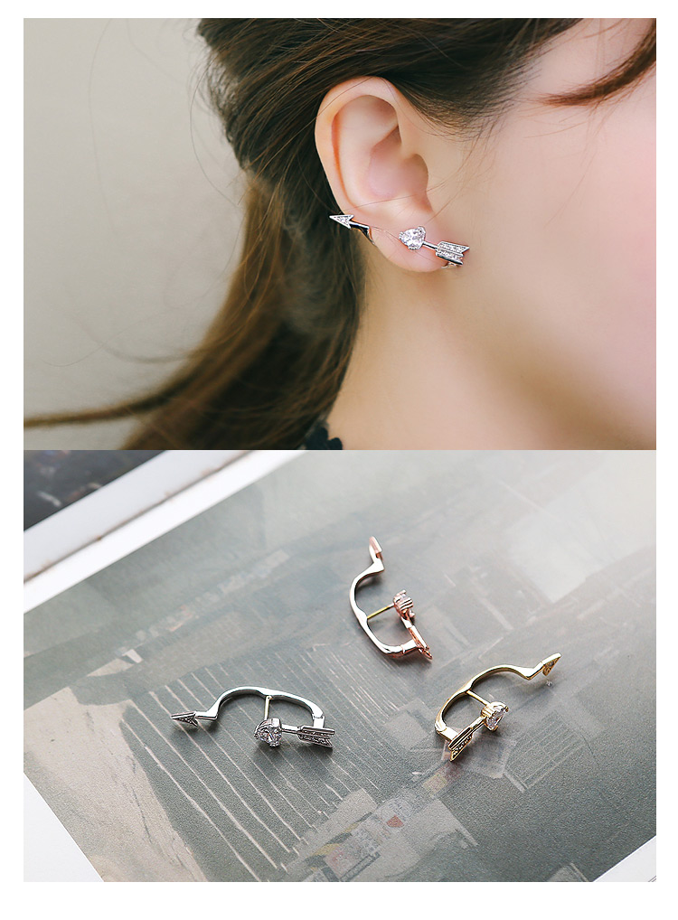 [ 4xtyle ] Cupid Arrow Earring, 3 Colors