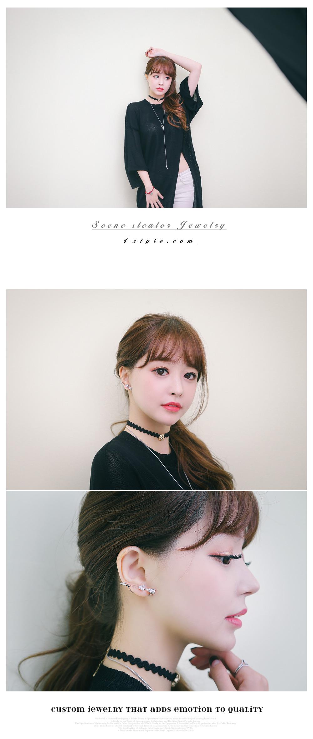 [ 4xtyle ] Cupid Arrow Earring, 3 Colors