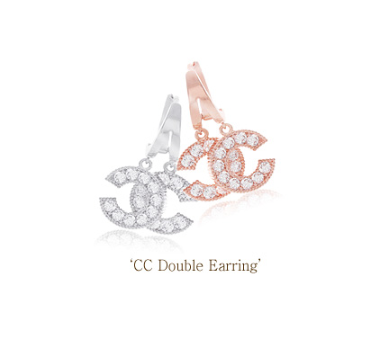 [ 4xtyle ] CC Double Earring, 3 Colors