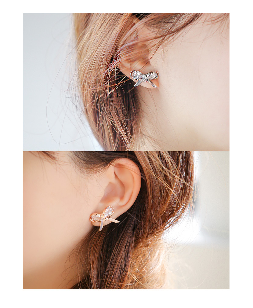 [ 4xtyle ] Deeping Crystal Earring, 3 Colors