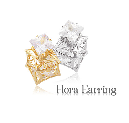 [ 4xtyle ] FLORAL EARRING