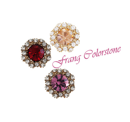 [ 4xtyle ] Frang Colorstone Earring, 5 Colors