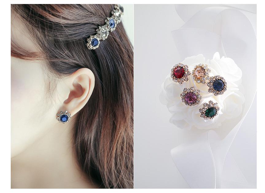 [ 4xtyle ] 弗朗Colorstone耳环、5种颜色