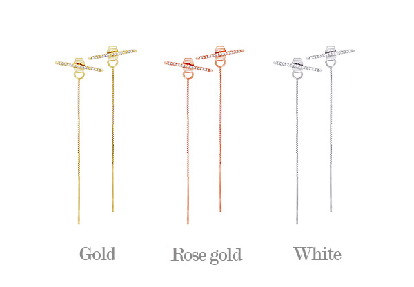 [ 4xtyle ] Meini Long Earring, 3 Colors
