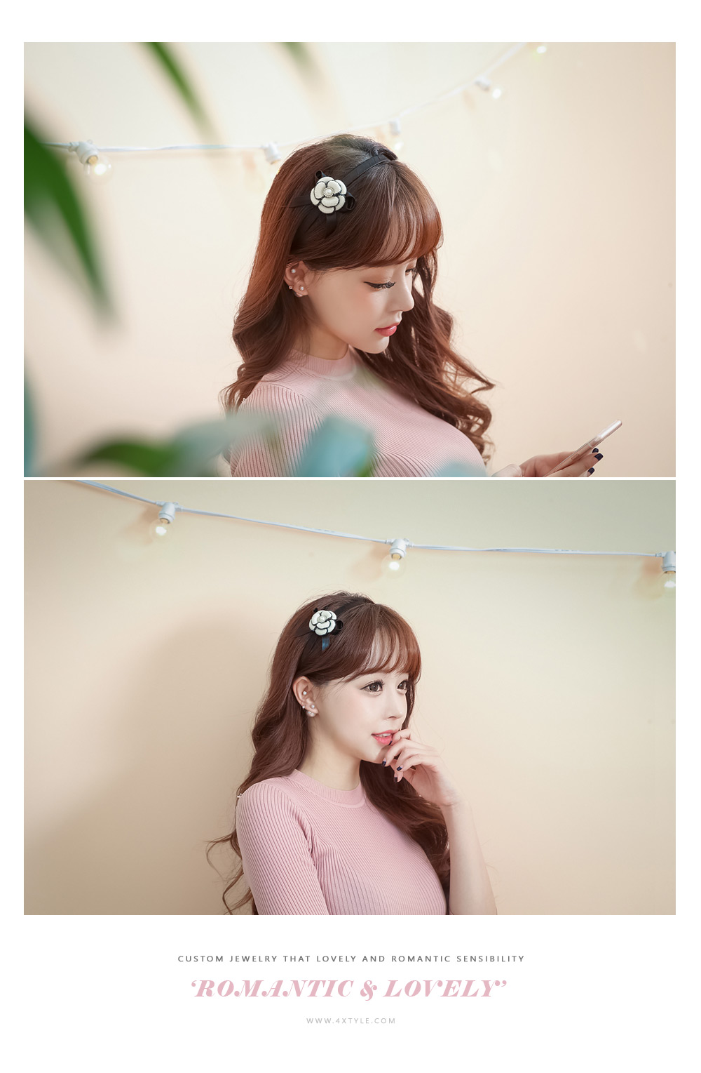 [ 4xtyle ] 珍珠耳环的Duet、6种类型