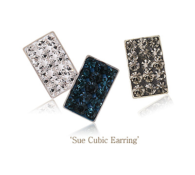 [ 4xtyle ] Sue Cubic Silver Earring, 3 Colors