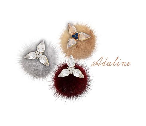 [ 4xtyle ] Adaline Mink Earring, 6 Colors